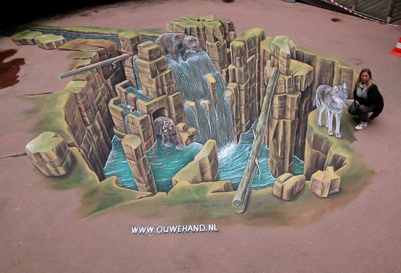 3D-streetart-ouwehands-dierentuin