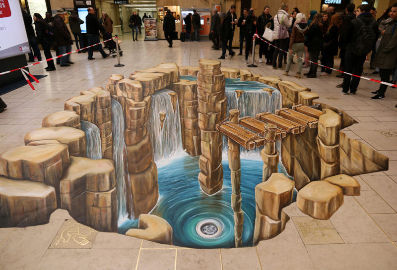 3D straatkunst