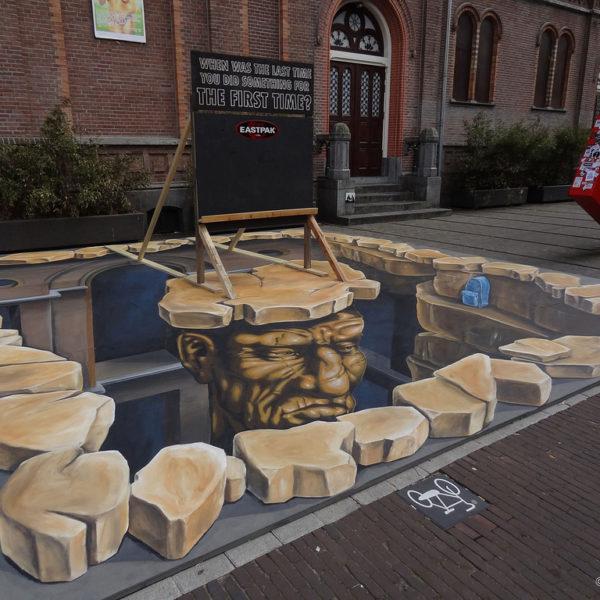3D street art Eastpak