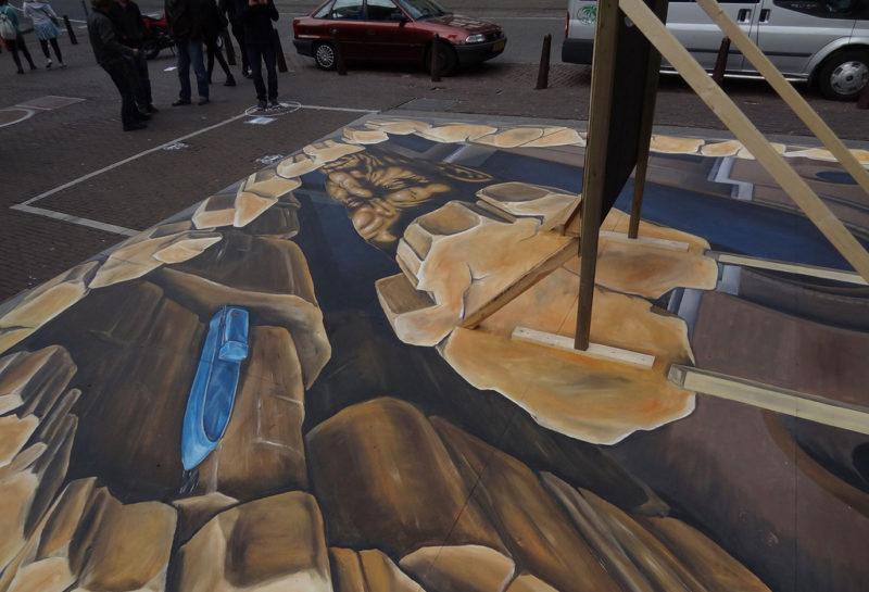 3D streetart eastpak