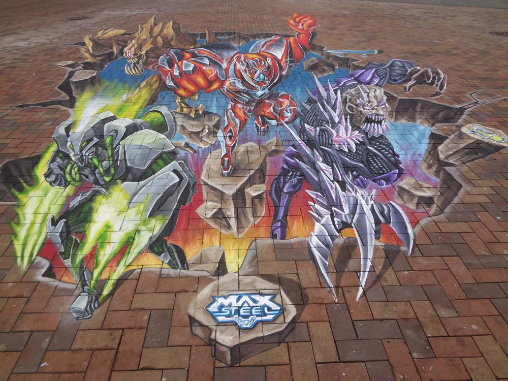 max-steel-amsterdam-3d street art